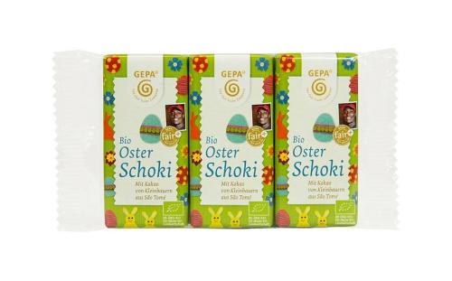 Bio Osterschoki Täfelchen 3er-Set, 3 x 15 g, BIO